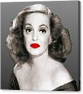 Bette Davis Draw Canvas Print
