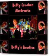 Betty Crocker's Abstracts - Betty's Bowties Canvas Print