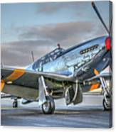 Betty Jane P51d Mustang At Livermore Canvas Print