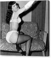 Betty Page Pin Up Girl 1950 Canvas Print