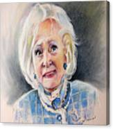 Betty White In Boston Legal Canvas Print