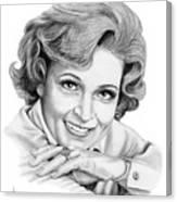 Betty White Canvas Print