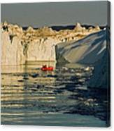 Between Icebergs - Greenland Canvas Print