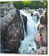 Betws-y-coed Waterfall In North Wales Canvas Print