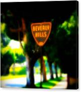 Beverly Hills Sign Canvas Print