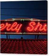 Beverly Shores Indiana Depot Neon Sign Panorama Canvas Print