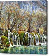 Beyond The Snowy Mountains Canvas Print