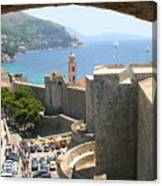 Beyond The Walls Of Old Dubrovnik Canvas Print