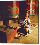 Bhutan Pilgrim Canvas Print