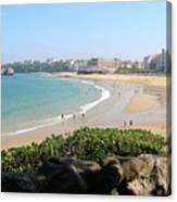 Biarritz Beach Panorama Canvas Print