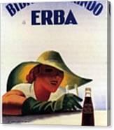 Bibita Tamarindo - Erba - Vintage Drink Advertising Poster Canvas Print