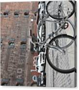 Bicycle And Building Canvas Print