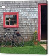 Bicycle At Barn Canvas Print