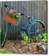 Bicycle Garden Canvas Print