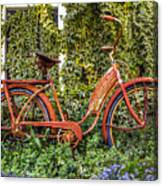 Bicycle In The Garden Canvas Print