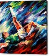 Bicycle Kick Canvas Print