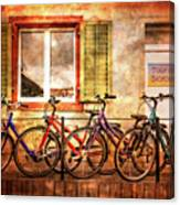 Bicycle Line-up Canvas Print