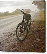 Bicycle On The Road In Botswana Canvas Print