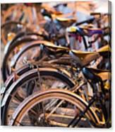 Bicycle Park Canvas Print
