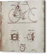 Bicycle Patent Drawing 4a Canvas Print