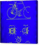 Bicycle Patent Drawing 4b Canvas Print