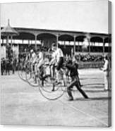 Bicycle Race, 1890 Canvas Print