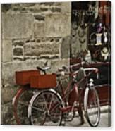 Bicycles  Dinan  France Canvas Print
