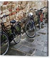Bicycles In Rome Canvas Print