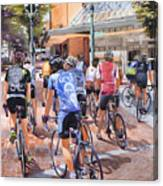Bicycles On Broadway Canvas Print