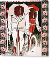 Bicycling Poster, 1896 Canvas Print