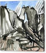 Bidein Snowstorm Canvas Print