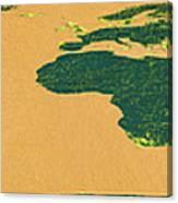 Big Abstract World Map  Canvas Print