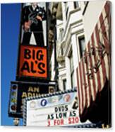 Big Al's Canvas Print