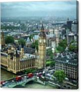 Big Ben From The London Eye Canvas Print