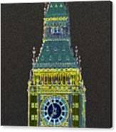 Big Ben Glowing Canvas Print