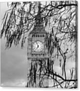 Bw Big Ben London Canvas Print