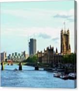 Big Ben, Parliament And River Thames Canvas Print
