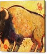 Big Bison Totem Canvas Print