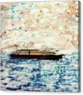 Big Black Ship Canvas Print