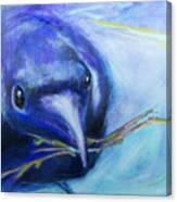 Big Blue Bird Canvas Print