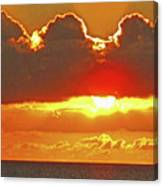 Big Bold Sunset Canvas Print
