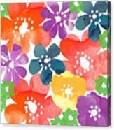 Big Bright Flowers Canvas Print