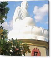 Big Buddha Statue At The Long Son Pagoda In Nha Trang Vietnam Canvas Print