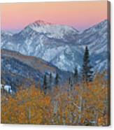 Big Cottonwood Canyon Wasatch Sunrise Canvas Print
