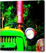 Big Green Tractor 2 Canvas Print