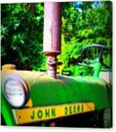 Big Green Tractor Canvas Print