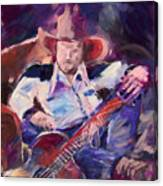 Big Hat Big Guitar Canvas Print