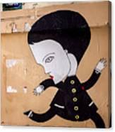 Big Head On Rue Chapon Canvas Print