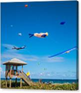 Big Kites Delray Beach Canvas Print