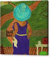 Big Mama On The Porch Canvas Print